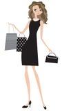 Senhora do negócio da compra ilustração royalty free