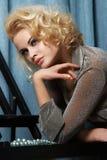 Senhora do ouro Fotografia de Stock Royalty Free