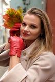 Senhora - do outono retrato fora Fotografia de Stock