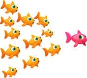 Senhora do peixe dourado Imagens de Stock Royalty Free