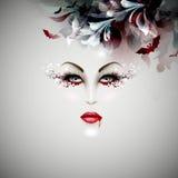 Senhora do vampiro de Dia das Bruxas Fotografia de Stock Royalty Free