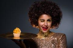 Senhora dourada Imagens de Stock Royalty Free