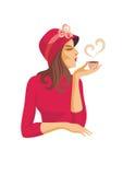 Senhora e café Imagem de Stock
