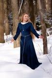 Senhora e neve Imagens de Stock