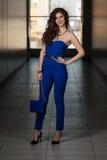 Senhora elegante With Stylish Hairstyle Imagens de Stock Royalty Free
