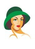 A senhora em um chapéu Foto de Stock
