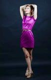 Senhora em um vestido agradável Foto de Stock Royalty Free