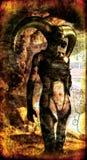 Senhora escura gótico ilustração royalty free