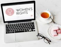 Senhora fêmea Feminism Concept da menina da mulher dos direitos das mulheres fotos de stock royalty free