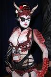 Senhora Flagelo em Long Beach cómica e em engodo do horror, centro de convenção de Long Beach, Long Beach, CA 10-30-11 Imagem de Stock Royalty Free