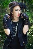 Senhora gótico Fotografia de Stock