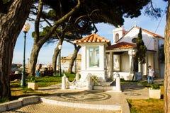 Senhora gör den Monte eremitboningen, Lissabon, Portugal Royaltyfria Foton