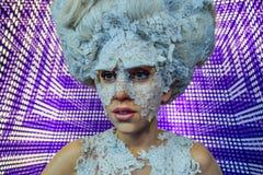 Senhora Gaga, figura de cera Stefani Joanne Angelina Germanotta imagens de stock