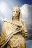 Senhora grega de Antígua, escultura clássica da arte Fotos de Stock