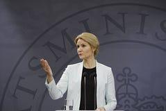 Senhora Helle Thonring-Schmidt PM dinamarquês Fotos de Stock