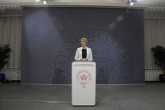 Senhora Helle Thonring-Schmidt PM dinamarquês Foto de Stock