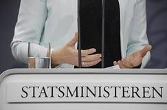 Senhora Helle Thonring-Schmidt PM dinamarquês Imagem de Stock Royalty Free