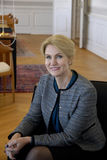 Senhora HELLE THORNING-SCHMIDT MEEST JENS STOLTENBERG Foto de Stock