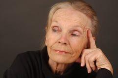 Senhora idosa Imagem de Stock Royalty Free