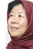 Senhora idosa asiática Imagem de Stock Royalty Free