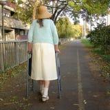 Senhora idosa e sozinha Fotografia de Stock