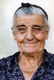 Senhora idosa feliz Fotografia de Stock Royalty Free