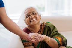 Senhora idosa feliz Foto de Stock