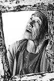 Senhora idosa Filipinas da filipina de Black&white Foto de Stock