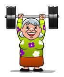 Senhora idosa forte Imagens de Stock Royalty Free