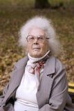 Senhora idosa no parque foto de stock royalty free