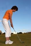Senhora Jogador de golfe Foto de Stock