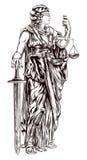 Senhora Justiça ilustração do vetor