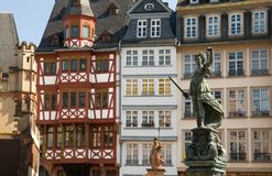 Senhora Justiça, Francoforte Fotografia de Stock Royalty Free