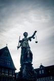Senhora Justiça In Frankfurt, Alemanha Imagens de Stock Royalty Free