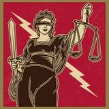 Senhora Justiça Propaganda ilustração royalty free