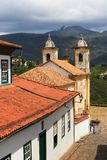 Senhora Kirche Igreja de Nossa tun Carmo in Ouro Preto. Vertikal lizenzfreie stockbilder
