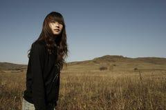 Senhora longa do cabelo Imagem de Stock Royalty Free
