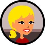 Senhora loura da beleza com batom vermelho Imagens de Stock Royalty Free
