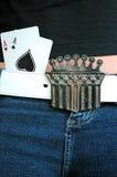 Senhora Luck e seus áss Imagem de Stock Royalty Free