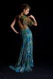 Senhora luxuosa do pavão Fotografia de Stock Royalty Free