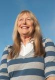 Senhora mais idosa feliz fotografia de stock royalty free