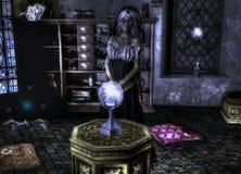 Senhora Marie - caixeiro de fortuna Fotografia de Stock