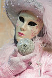 A senhora na cor-de-rosa Imagem de Stock Royalty Free