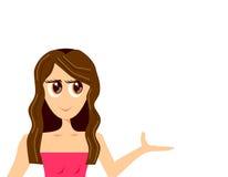 Senhora na cor-de-rosa (com copyspace) Foto de Stock