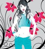 Senhora na moda Imagem de Stock