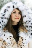Senhora na pele Imagem de Stock Royalty Free