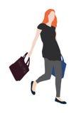 Senhora na viagem da compra Fotos de Stock Royalty Free