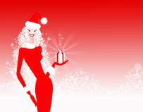 Senhora Natal Ilustração Royalty Free