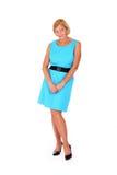 Senhora no azul Fotos de Stock Royalty Free