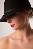 Senhora no chapéu Fotografia de Stock